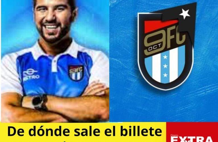 """Dalo Bucaram dice que Club """"9 de Octubre"""" tiene auspiciantes pero no dará nombres."""