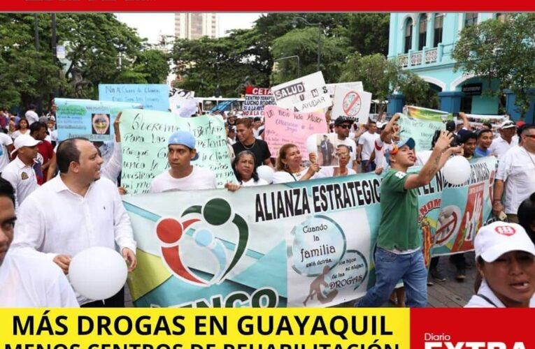 Más drogas en Guayaquil, menos centros de rehabilitación