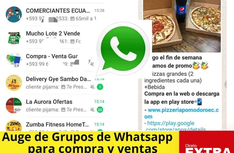 Guayaquileños crean grupos de Whatsapp para poder vender por su sector.