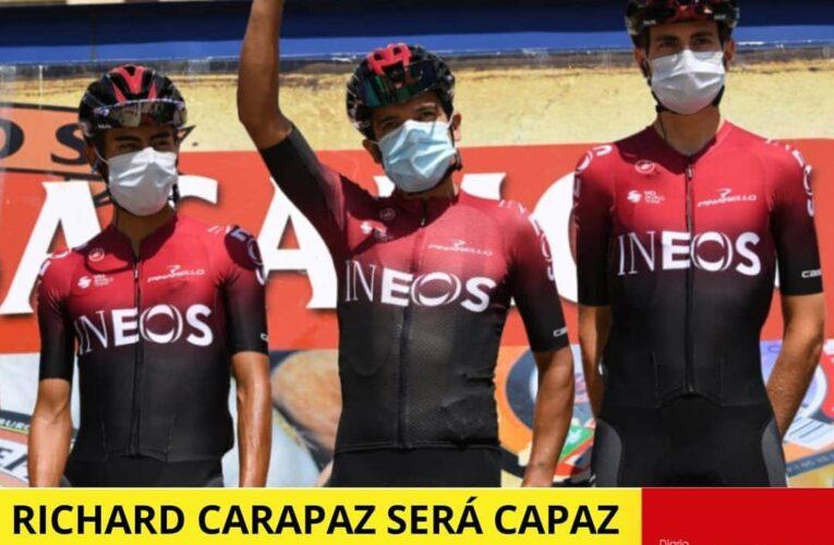 """Carapaz quiere dedicar triunfo de """"La Vuelta de Burgos"""" a las víctimas del covid del Ecuador."""