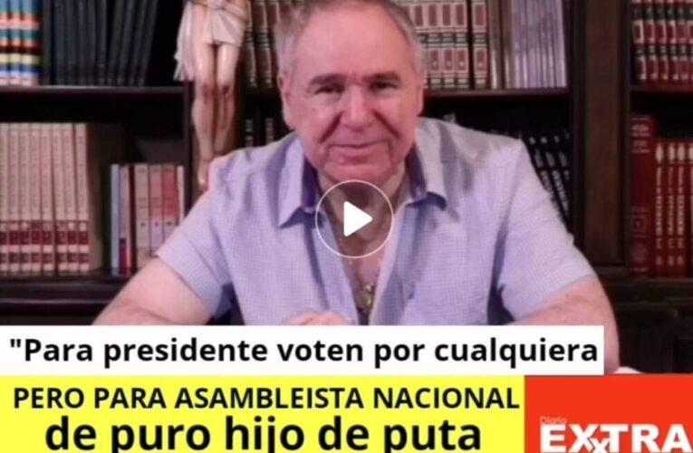 """""""Para presidente voten por cualquiera pero para asambleista nacional de puro hijo de puta vote por Abdalá"""""""
