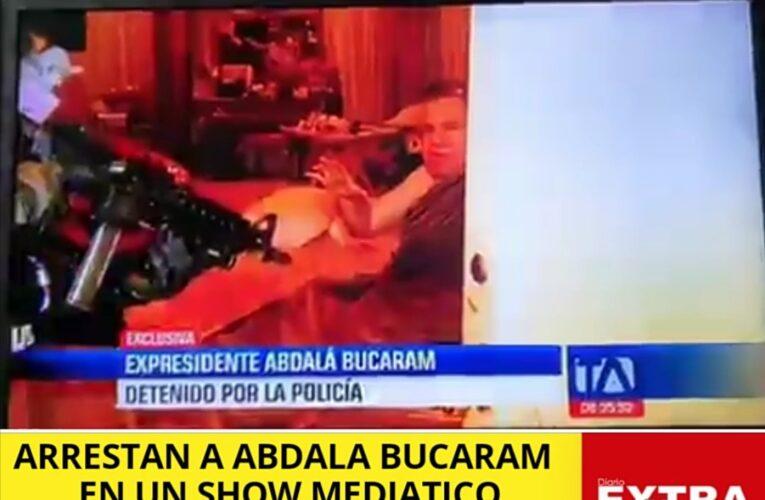 Arrestan a Abdalá Bucaram al estilo Hollywood, Maria Paula Romo y Fidel Egas se las tenían guardadas.