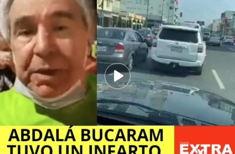 Por tanta presión Abdalá Bucaram sufre un infarto y se lo llevan entre lágrimas (videos)