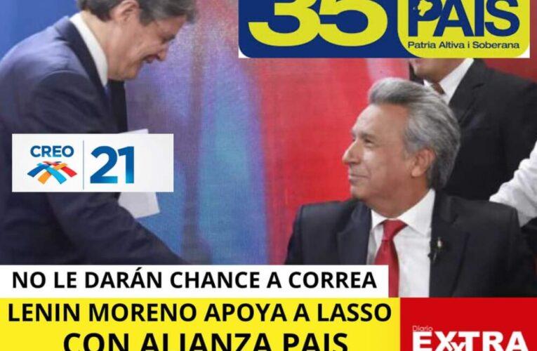El voto duro de Rafael Correa obliga al morenismo a apoyar a Guillermo Lasso con Alianza País y otros partidos.