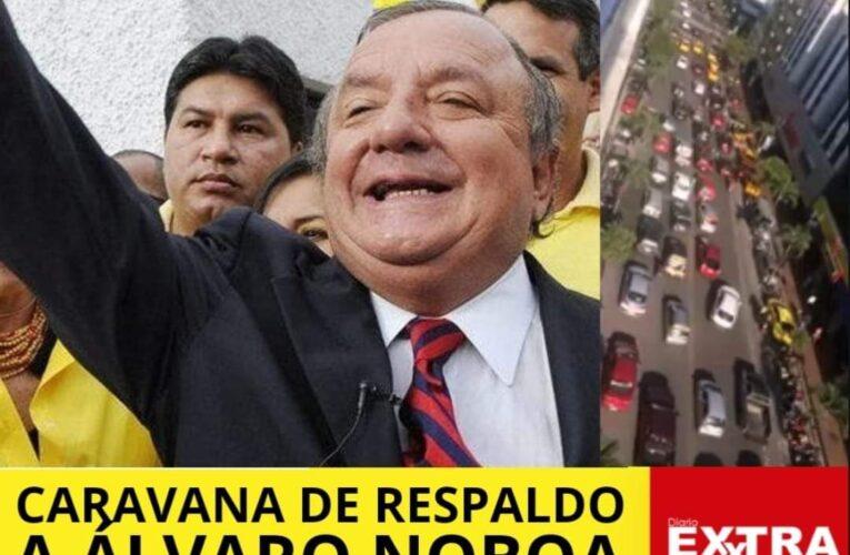 Caravana a favor de Álvaro Noboa en Guayaquil. Qué dirá el ya que chuchas?