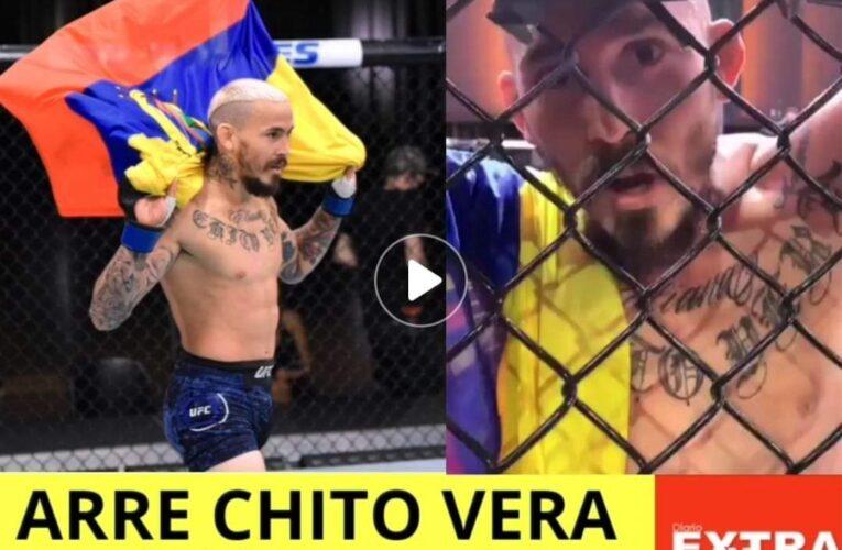 Arrecho Chito Vera campeón de la UFC quién hizo respetar la bandera del Ecuador.