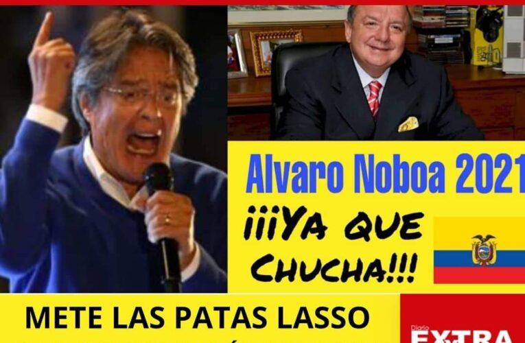 """""""Nadie sabe para quien trabaja"""" Guillermo Lasso le hace grueso favor a Álvaro Noboa."""