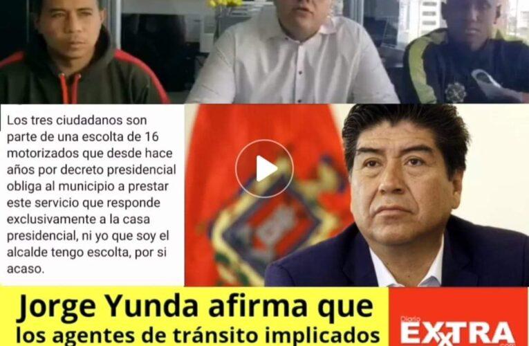 Agentes implicados con los falsos funcionarios de la Dea pertenecian desde el 2017 a la escolta presidencial según Jorge Yunda.