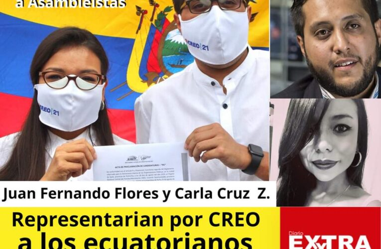 CREO 21 Respalda a candidatos para asambleistas jóvenes como Juan Fernando Flores y Carla Cruz.