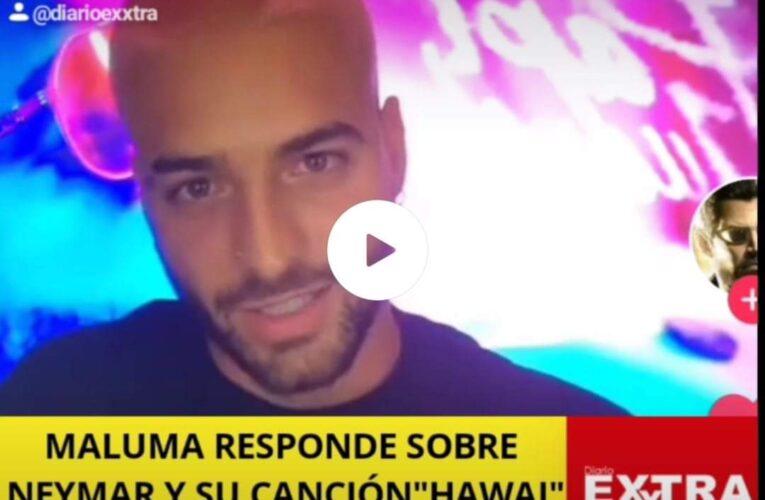 Esto le responde Maluma a Neymar