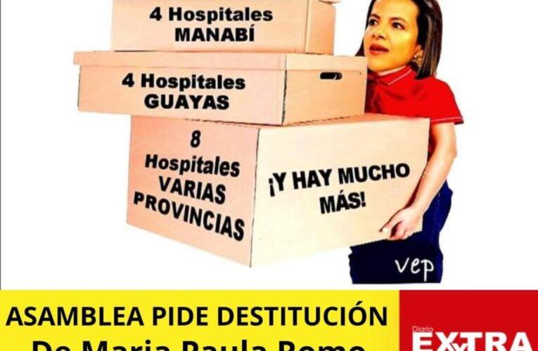 Asamblea se une para destituir a María Paula Romo por supuesto reparto de hospitales.