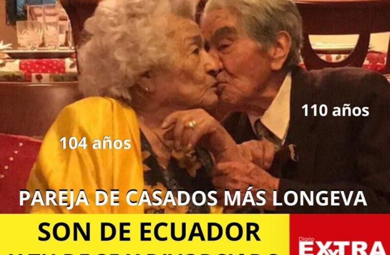 La pareja casada más longeva del mundo es de Ecuador y tu divorciado!