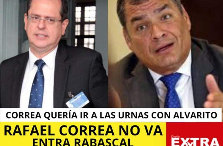 Carlos Rabascal de 59 años va para presidente por el correismo. Rafael Correa quería a Alvarito de contendiente.