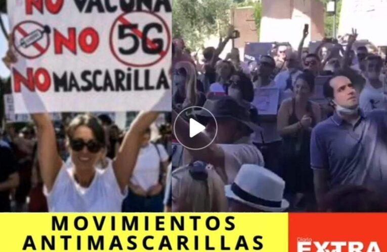 Movimientos antimascarillas protestan en España, Bruselas y Reino Unido porque enajenan sus derechos.