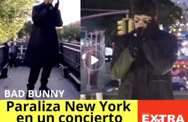 Bad Bunny paraliza New York con un concierto rodante desde un camión