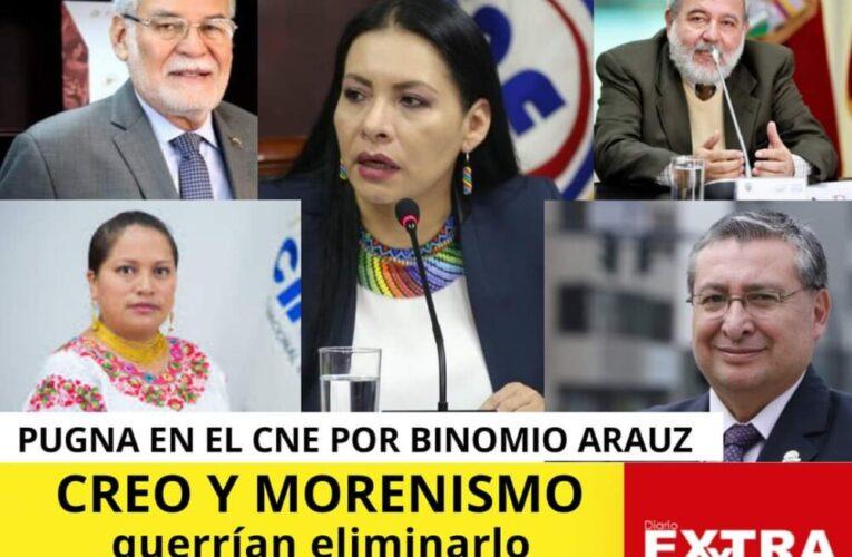 Pugna en el CNE por binomio del correismo, Creo y Morenistas estarían a favor de eliminar binomio y PSC a favor de participación de correistas