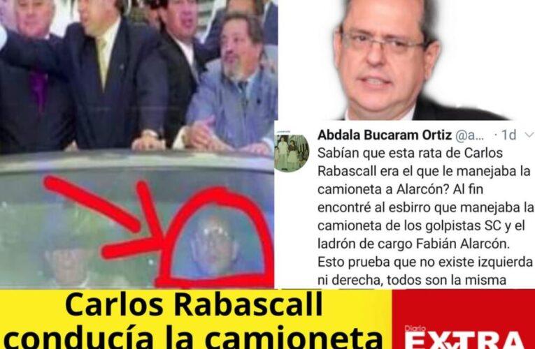 Abdalá Bucaram denuncia que Carlos Rabascall fue el golpista de la derecha que manejaba la camioneta de Fabián Alarcón