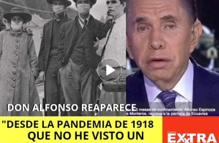 Don Alfonso Espinosa de los Monteros sale del confinamiento y explica que el coranavirus es peor que la Influenza en 1918.