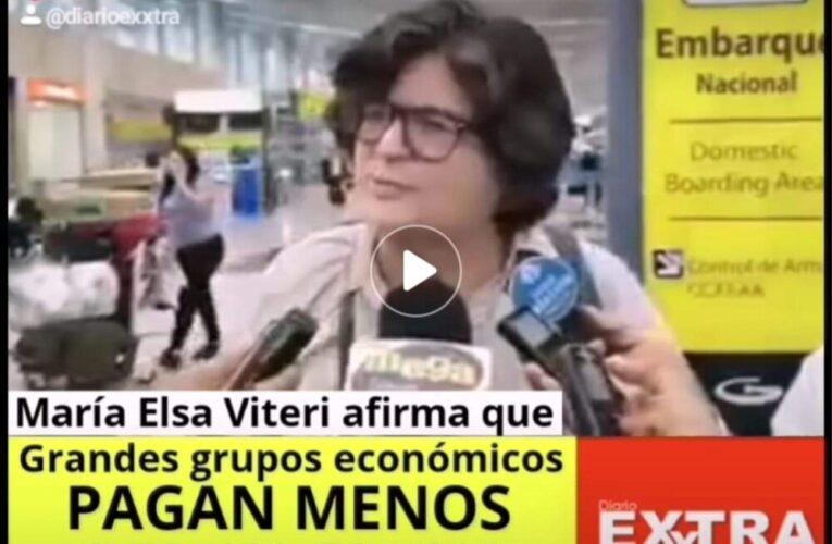La economista María Elsa Viteri afirma que grandes grupos económicos  pagan menos del 1% de IVA.
