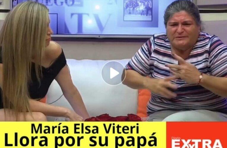 María Elsa Viteri llora por su padre y defiende las fortalezas de las mujeres ante la sociedad.
