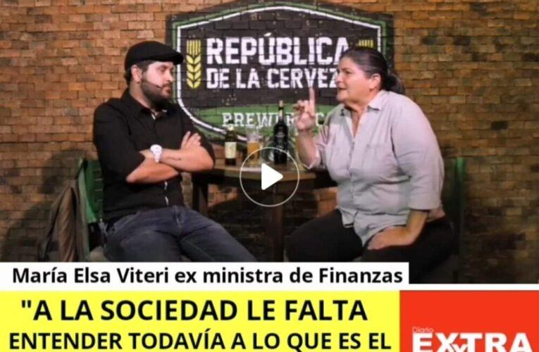 """""""A la sociedad le falta entender todavía el liderazgo de una mujer"""" María Elsa Viteri ex Ministra de Finanzas."""