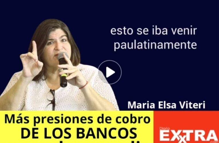 María Elsa Viteri critica presión de cobros de la banca a los ecuatorianos con la mal llamada Ley Humanitaria.
