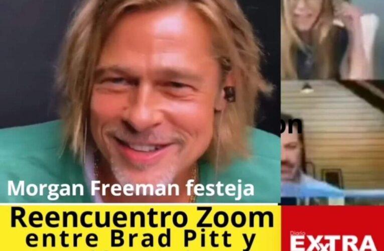 "Morgan Freeman celebra reencuentro en ""Zoom"" entre Jennifer Aniston y Brap Pitt"