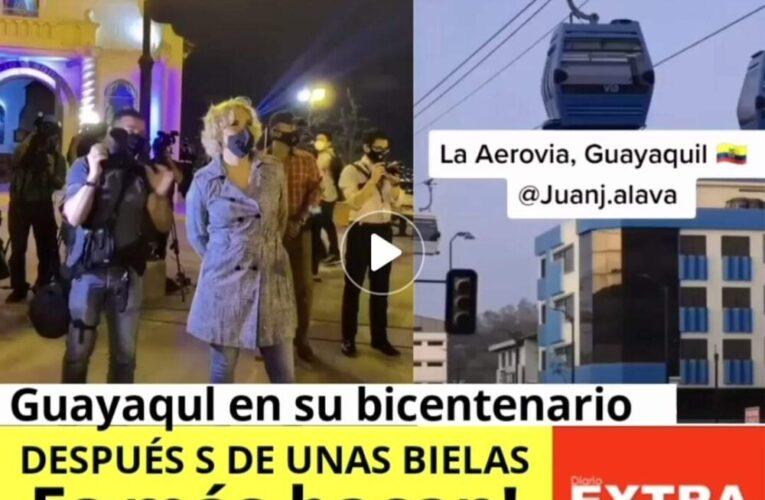 Cynthia te invita en este bicentenario de Guayaquil a tomarte unas bielas y disfrutar de sus luces