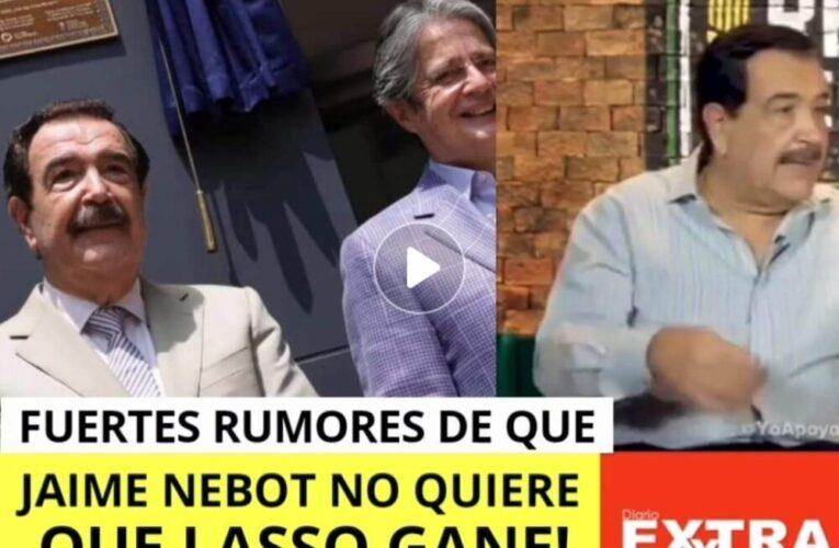 Corren fuerte rumores que Jaime Nebot no quiere que Guillermo Lasso gane las elecciones