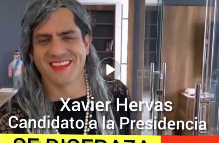 Candidato a la Presidencia se disfraza de viuda!