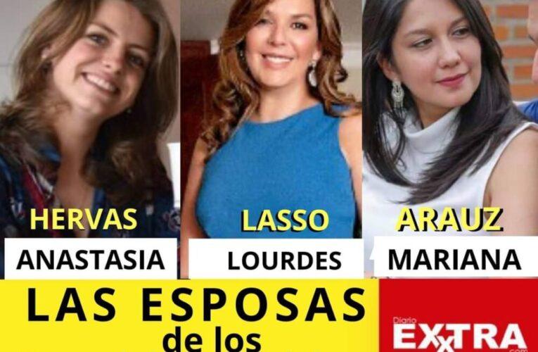 Las esposas de los candidatos a Presidente del Ecuador.