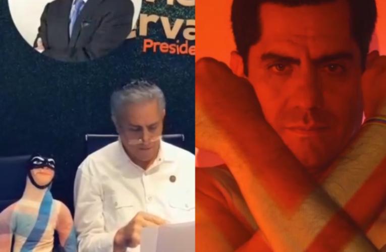 Xavier Hervas,el candidato tiktokero causa revuelo al disfrazarse de viuda y dejar testamento a sus contendientes presidenciables.